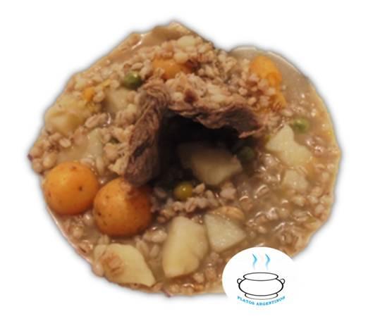 receta cuchuco de trigo con espinazo de cerdo